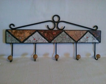 Wall Coat Rack,Mosaic Coat Rack,Functional Wall Art