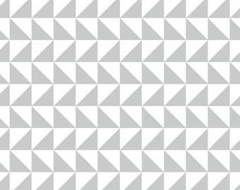 Geometric Wallpaper, Peel and stick wallpaper, wallpaper, Removable wallpaper, Repositionable wallpaper, Self adhesive wallpaper, grey