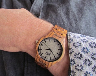 FREE Engraving, Wood Watch, personalized men watch, engraved watch, Groomsmen gift,custom wood watch,personalized, boyfriend gift, TOP500