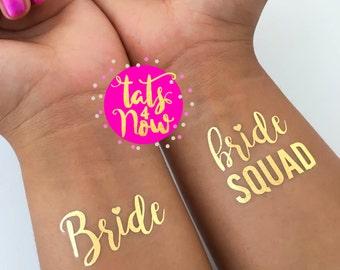 Bachelorette tattoo, Bride Squad, Bachelorette party tattoo, Set of 16