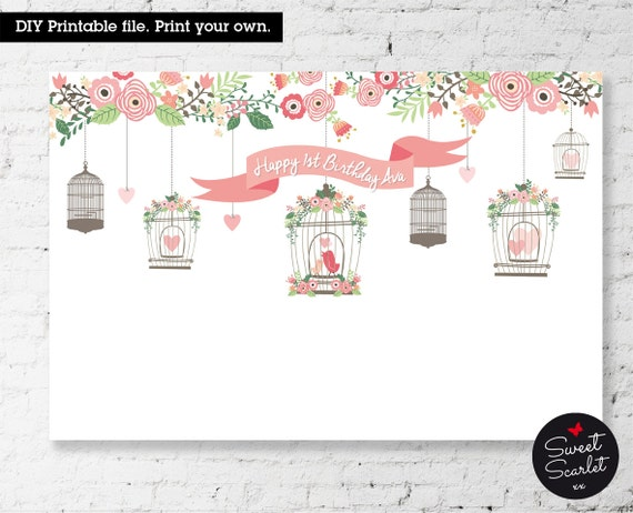 BIRDCAGE Backdrop Design For Birthday Party Vintage Style