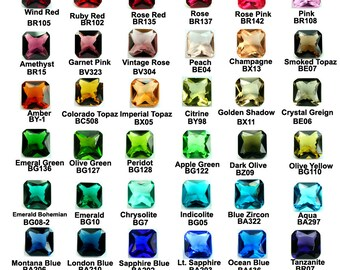 Glass Jewel 10x10mm Octagon Square Faceted Diamond Cut, Pointed Back, Unfoiled - Pick You Colors -4pcs