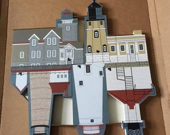 The Cat's Meow Village - Postage Stamp Lighthouse Seriew