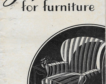Slip Covers for Furniture  Instruction Guide   Farmers Bulletin 1873  Dated 1943