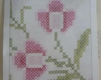 Printed on fabric cross stitch pattern