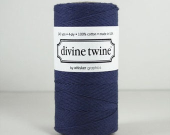 NEW- Solid NAVY BLUE Divine Twine- 240 yards