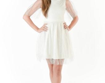 Forever Elegant Dress in White