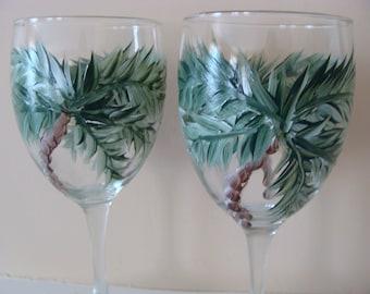 Palm Tree Wine Glasses