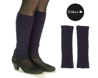 Cashmere leg cuffs, 2:2 rib