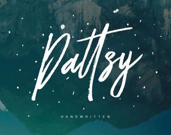 Dattsy Brush Font Handmade Typeface