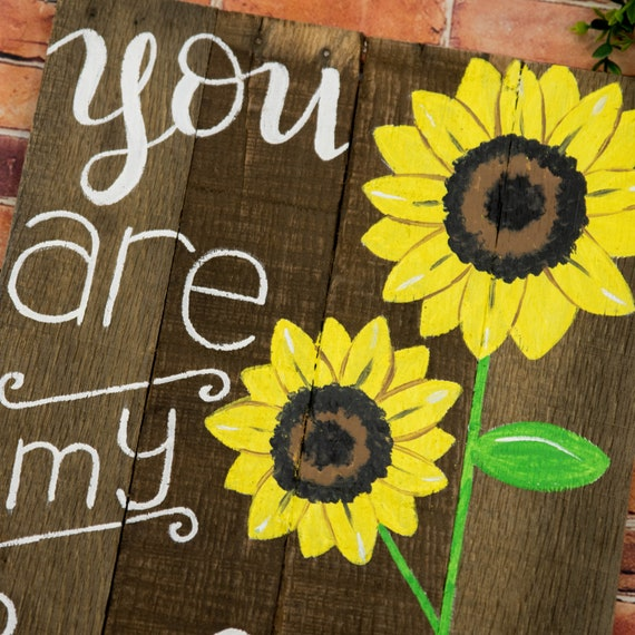 You are my sunshine wall art Best friend gifts Spring wall