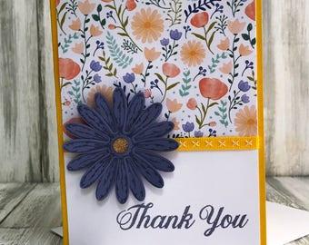 Stampin Up Handmade Greeting Card, Thank You Card