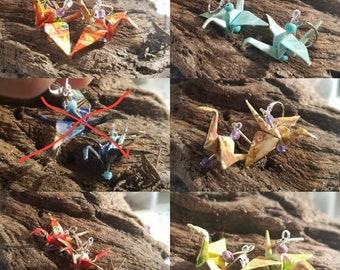 Oragami Crane Earrings