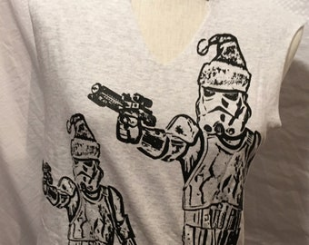 """The """"Winter Storm"""" Troopers Tank with Cut-outs- Xmas in July!"""