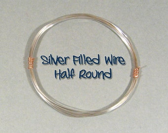 18ga HR DS Half Round Silver Filled Wire - Choose Your Length