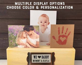 Daddy Gift for Father,  Personalized Daddy Gift, Daddy Desk Photo Holder, Personalized Father Gift from kids to Dad