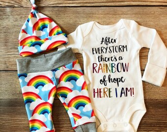Rainbow baby boy | Etsy
