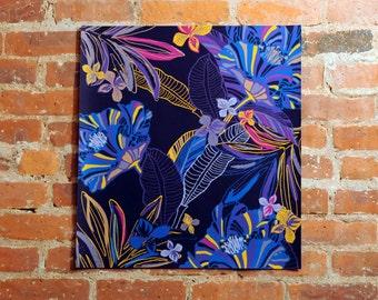 "original print, wall decor art, Botanical Leaves, wall art, home decor art, office decor art, original artwork, original art, 21"" x 22"""