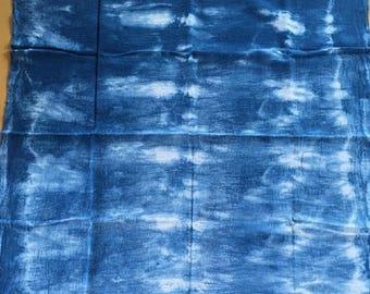 Indigo Blue and White Flour sack Towel//Shibori