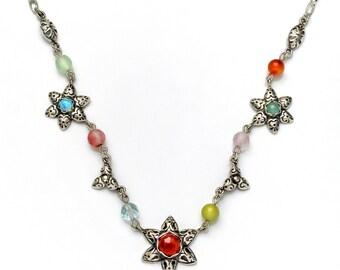 Essentials: Tri-Flower Star Necklace