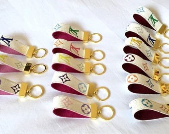 Repurposed/Upcycled Louis Vuitton Multicolor Keyfob/Keychain