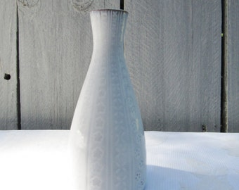 Lovely Mid Century German Vase, German Ceramico Bud Vase, Slate grey, shades of grey, circular pattern, gift idea, Stocking stuffer