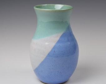 Ceramic Vase, Pottery Vase, Tri-color Vase, Flower Vase, Handmade Vase, Flower display
