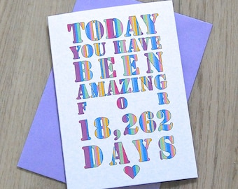 Days You've Been Amazing Card – Personalised Birthday Card – Card for Husband Wife – birthday card for friends – Christmas card for friends