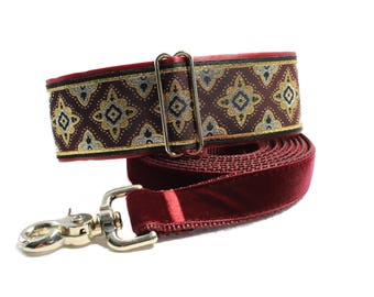 Jacquard Martingale Collar and Matching Leash, 2 inch Martingale Collar, Jacquard Dog Collar and Leash, Greyhound Collar, Sighthound Collar