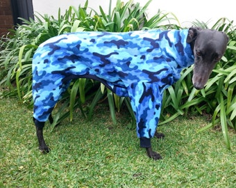 Greyhound pyjamas by Snug Hounds Custom Made