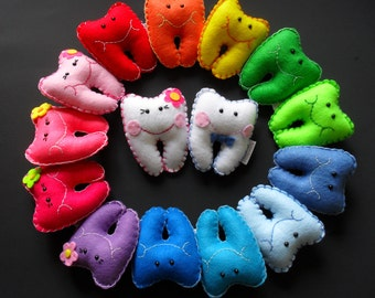 Mini Colorful Tooth Fairy Pillows - Personalized