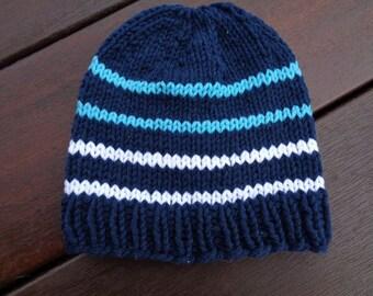 Hat 6 month Navy cotton boys