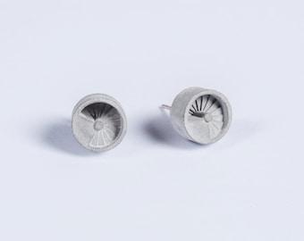 Micro Concrete Earrings #4