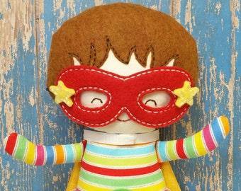 "11"" Boy Superhero Doll, Customized Stuffed Toy, Boy Birthday Gift"