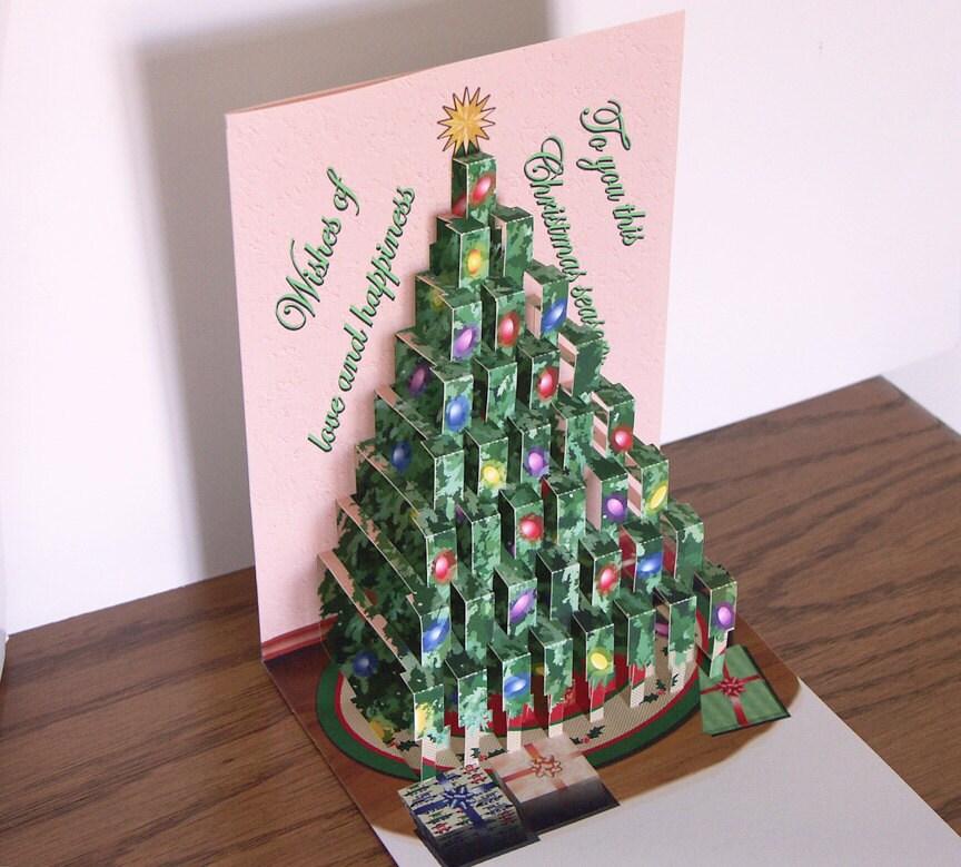 How to make a merry christmas pop up card greeting card 3d christmas pop up christmas tree card merry christmas m4hsunfo