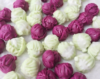 10 Miniature Cabbage,Miniature Vegetable,Dollhouse Vegetablet,Dollhouse Cabbage,Miniature Fairy Garden,Green Cabbage