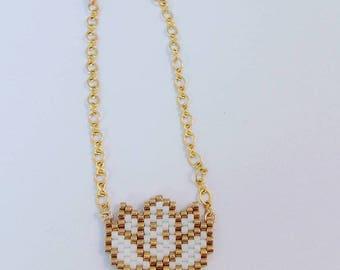 Bracelet en perles Miyuki lotus - or Goldfilled