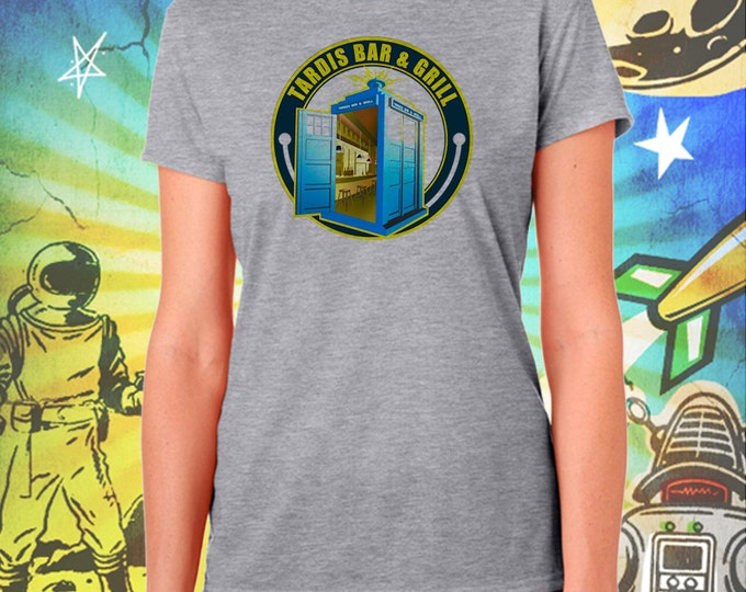 Doctor Who / Tardis Bar & Grill / Women's Gray Performance T-Shirt