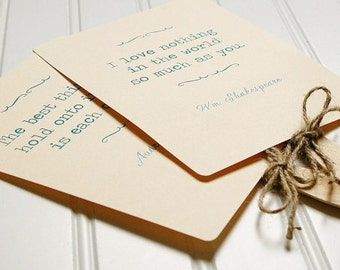 Wedding Fans- Custom Love Quotes. Rustic Wedding. Wedding Ceremony Program. Shabby Chic Wedding.  Rounded Corners.