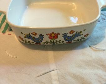 Vintage Corningware Country Festival 1 Quart Casserole or Serving Dish Made in The USA