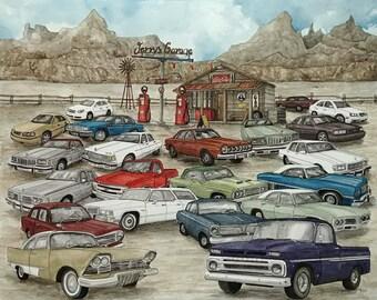 Custom Portrait Painting, Custom Painting, Custom Order, Cars, Custom Art, Custom Watercolour Art, Watercolor Painting, Watercolor Landscape