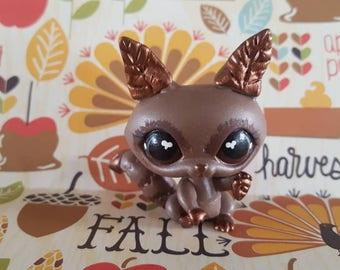 Fall Autumn Falling Leaves  Raccoon OOAK Custom Littlest Pet Shop Repaint
