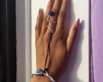 Aqua ring-bracelet