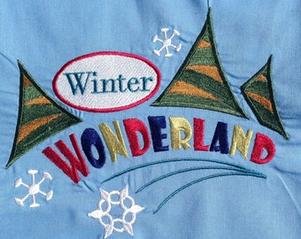 Embroidered Apron, Chef's Apron, Christmas Apron, Cotton Apron