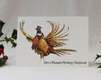 Pheasant Plucking Christmas: Illustrated Christmas Card