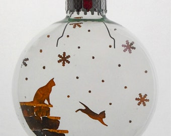 Kitten's First Snow Christmas Holiday Ornament