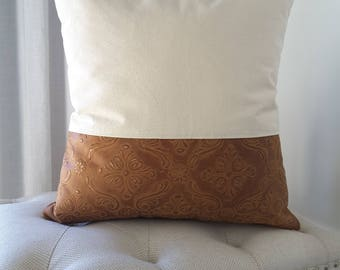 Cowhide Canvas Pillow