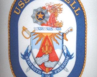 USN US Navy USS Russell  ddg-59 coffee mug