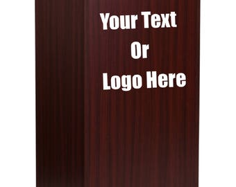 Custom Designed Stand Up Wood Lectern Podium Display With Your Personalized Text or Logo