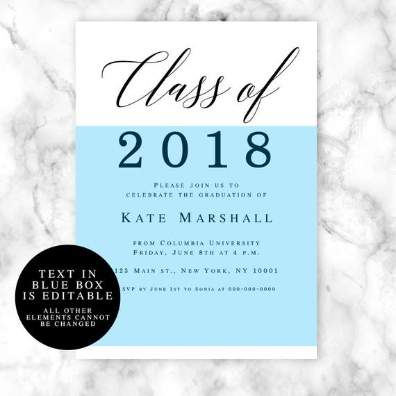 Class Of Invitation Graduation Party Invitation Template - Class party invitation template